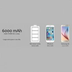 Bateria Portátil Power Bank Smart Turbo Prata Easy Mobile