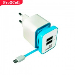 CARREGADOR SMART USB 2.1 MICRO USB EASY MOBILE 2 PORTAS