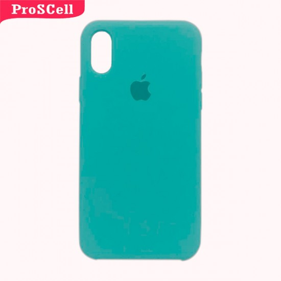 CAPA APPLE IPHONE X/ XS SILICONE AVELUDADA - CORES