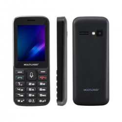 CELULAR MULTILASER ZAPP 2,4'' CONEXÃO 3G 512MB, PRETO - P9098