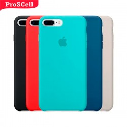 CAPA APPLE IPHONE 7 PLUS/ 8 PLUS SILICONE AVELUDADA - CORES