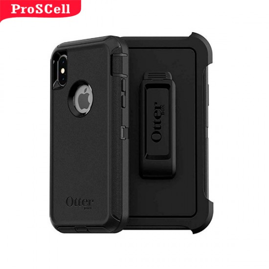 CAPA ANTI-SHOCK ORIGINAL DEFENDER OTTERBOX PARA IPHONE X/XS - PRETO