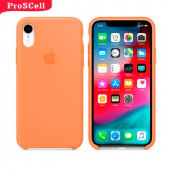 CAPA APPLE IPHONE XR SILICONE AVELUDADA - CORES