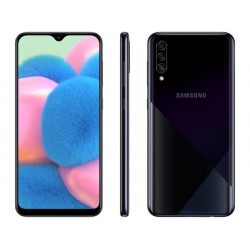 "Smartphone Samsung Galaxy A30s 64GB Preto 4G - 4GB RAM Tela 6,4"" Câm. Tripla + Câm. Selfie 16MP"